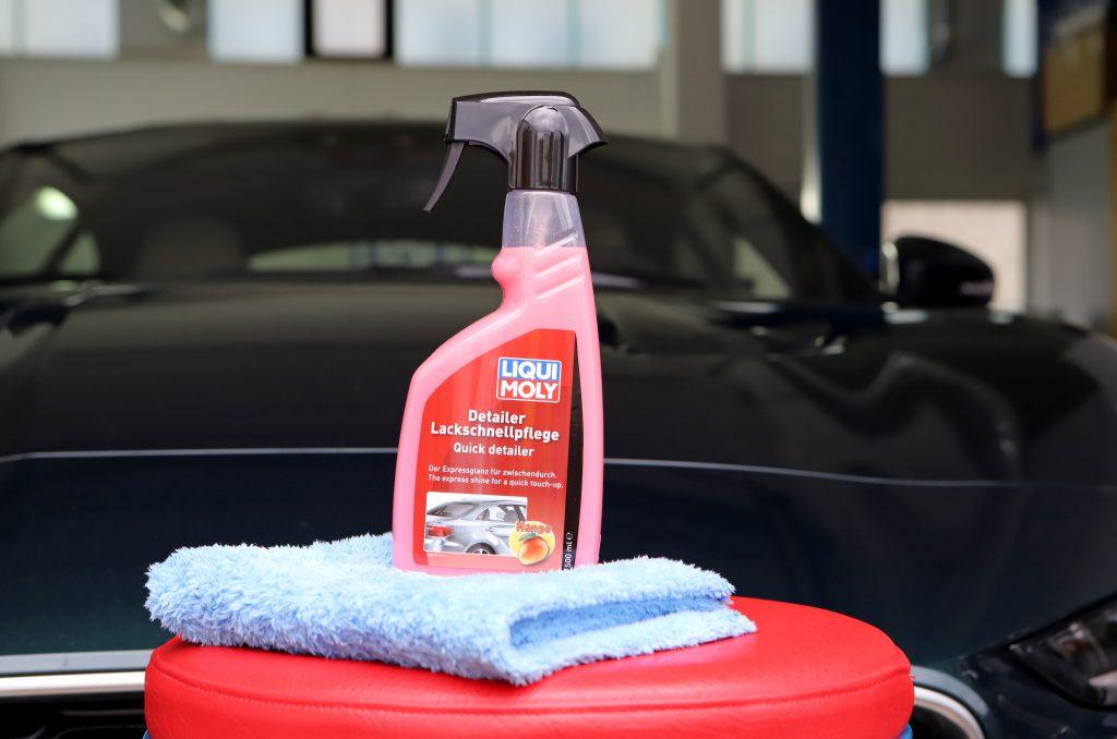 Producto de detailing para el cuidado rápido de la pintura Lavar, secar, conservar y pulir.